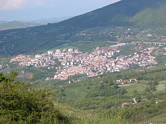 Tito, Basilicata - Image: Tito panorama da torre di satriano