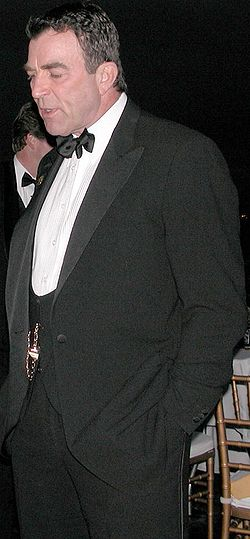 Tom Selleck at the San Diego Aircraft Museum (the former USS Midway (CV-41)), July 23, 2004.
