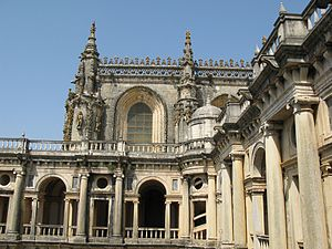 Convent of Christ (Tomar) - The Manueline nave, as seen from the Renaissance era cloisters
