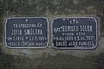 Tomb of Zofia Smólska and Edward Solon at Central Cemetery in Sanok 2.jpg