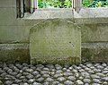 Tombstone on the North Face of the Church of St Dunstan in the East, City of London (01).jpg