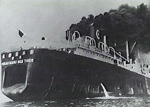 English: Japanese whaling factory Tonan Maru n...