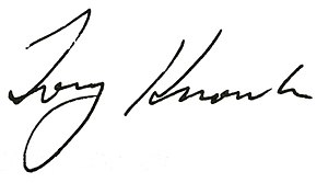 Tony Knowles (politician) - Image: Tony Knowles signature