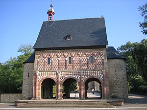 Architecture of Germany - The 9th-century Torhalle (gatehouse) at Lorsch Abbey is a unique survival of the Carolingian era.
