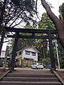 Torii gate of Hitsujisaki-jinja shrine,Minato,Ishinomaki.JPG