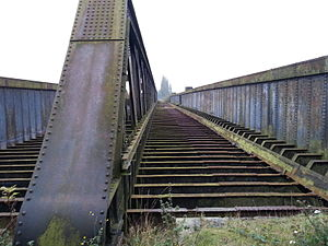 Torksey - Torksey viaduct, deck level, facing East.