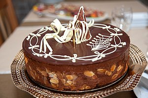 Čokoladna torta s bademima