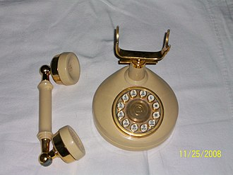 Design Line telephone - Image: Touch Tone Design Line Celebrity ivory