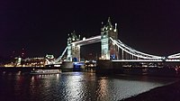 Tower Bridge at night from South Bank.jpg