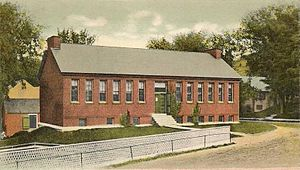 History of public library advocacy -  Peterborough Town Library, the first completely tax supported public library in the United States, 1906, Peterborough, New Hampshire.
