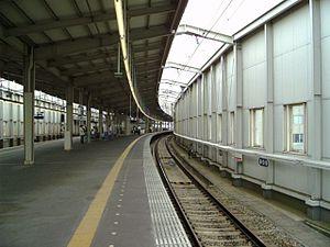 Toyonaka Station - Platform of Toyonaka Station