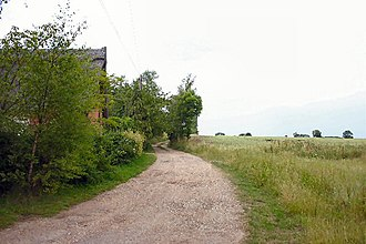 Lawshall Green - Image: Track to Trees Farm geograph.org.uk 196264