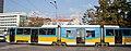 Tram in Sofia near Russian monument 047.jpg