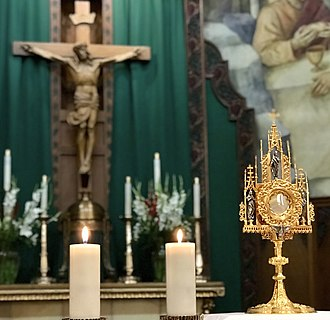 Transubstantiation - Transubstantiation  - The Real Presence of Jesus in the Eucharistic Adoration at Saint Thomas Aquinas Cathedral in Reno, Nevada