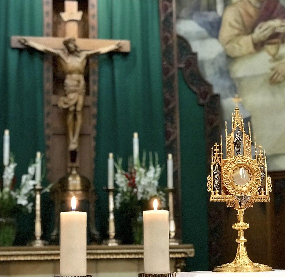 Transubstantiation Eucharistic Adoration at St Thomas Aquinas Cathedral in Reno NV USA