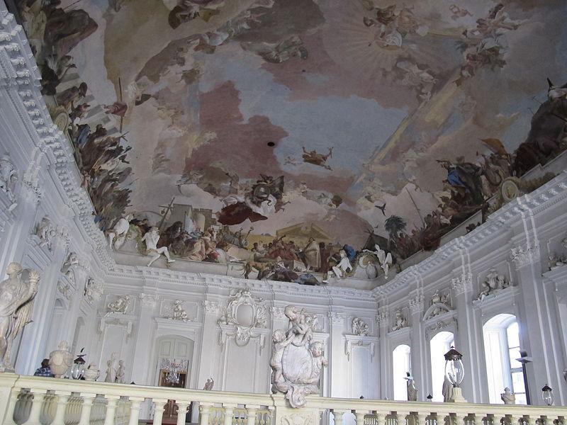 Deckenfresko im Treppenhaus der Würzburger Residenz