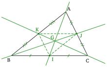 triangle, médianes et centre de gravité
