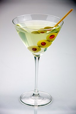 Triple olive Dirty Martini - Evan Swigart