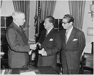 Philippines–United States relations - President Elpidio Quirino with Harry S. Truman at the White House, 1951.