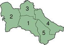 Turkmenistans provinser.