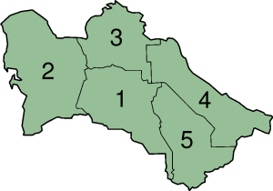 Provincias de Turkmenistán.