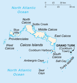 Location of Kepulauan Turks dan Caicos