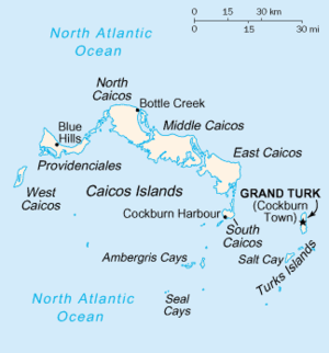 Providenciales - Map of Turks and Caicos Islands
