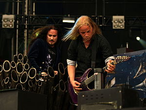 Nightwish - Tuomas Holopainen (left) and Emppu Vuorinen (right), two of the band's founding members.