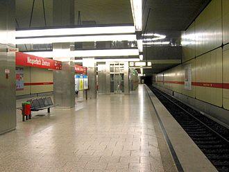 Neuperlach Zentrum (Munich U-Bahn) - Image: U Bahnhof Neuperlach Zentrum 01