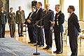 U.S. Army Lt. Gen. Donald Campbell, second from right, the commanding general of U.S. Army Europe, thanks Croatian President Ivo Josipovic, not shown, for Croatia's support in hosting exercise Immediate Response 130826-A-WB953-235.jpg