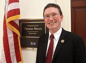 Thomas Massie - Congressman Massie outside his Congressional office