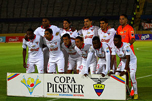 L.D.U. Quito - The LDU Quito squad in August 2014 (Photo: Andes)