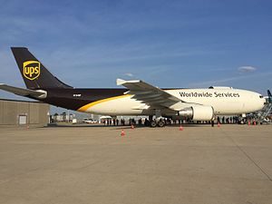 UPS Airlines - A Airbus A300-600 painted in the 2014 updated livery at Louisville International Airport