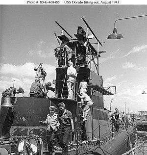 USS Dorado (SS-248) - The USS Dorado's (SS-248) construction, in 1943.