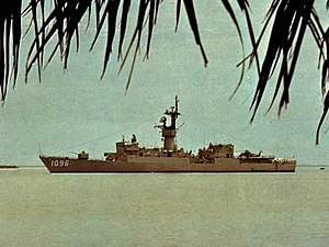 USS Valdez (FF-1096) - Valdez in Guinea-Bissau, 1978.