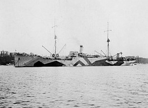 USS Vestal - USS Vestal off New York City, in 1918.