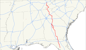 US Route Wikipedia - Us 129 map
