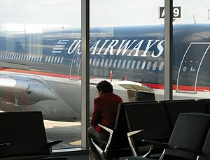 US Airways Airbus A330 at Concourse A West