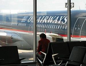 US Airways plane at Philadelphia International...