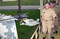 US Navy 021213-N-7293M-042 inspecting damage incurred at the Naval Hospital from Super Typhoon Pongsona.jpg