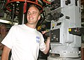 US Navy 040702-N-5539C-001 Comedian-Actor Jay Mohr took time out of his busy schedule to visit with the Sailors aboard the Los Angeles class fast attack submarine USS Greeneville (SSN 772).jpg