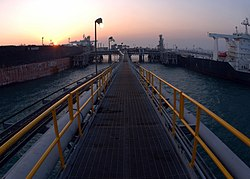 US Navy 051120-N-2445C-079 The sun rises over the Al Basra Oil Terminal (ABOT) in the North Persian Gulf.jpg