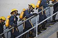 US Navy 060215-N-5330L-577 Students at Farrier Firefighting School, Naval Station Norfolk, follow one another into the training simulatorStudents at Farrier Firefighting School, Naval Station Norfolk, follow one another into th.jpg