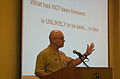 US Navy 070212-N-3750S-060 Deputy Chief of Naval Operations for Information, Plans and Strategy Vice Adm. John Morgan, discusses the relationship between strategy and enterprise in tomorrow's Navy.jpg