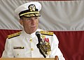 US Navy 080712-N-1522S-017 Rear Adm. Joseph Kernan delivers his remarks while assuming command of U.S. Naval Forces Southern Command (NAVSO) and U.S. 4th Fleet.jpg