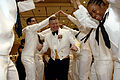 US Navy 090404-N-9818V-240 Master Chief Petty Officer of the Navy (MCPON) Rick West dances at the Seabee Ball.jpg