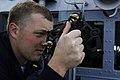 US Navy 091114-N-2610F-113 Ensign Nathan Getty uses a stadi-meter.jpg