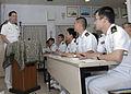 US Navy 100517-N-5019M-001 Vice Adm. John Bird, commander of U.S. 7th Fleet, speaks to Japan Maritime Self-Defense Force (JMSDF) ensign.jpg