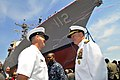 US Navy 110507-N-ZB612-200 Chief of Naval Operations (CNO) Adm. Gary Roughead, right, and Master Chief Petty Officer of the Navy (MCPON) Rick West.jpg