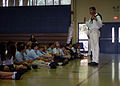 US Navy 110510-N-AU127-130 Aviation Structural Mechanic Airman Andrew Wyall teaches naval history to middle school students at St. Louis King of Fr.jpg